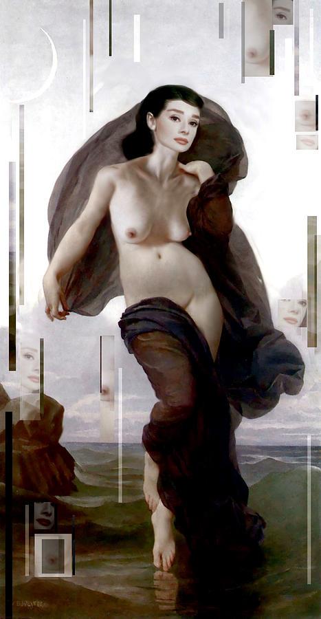 Audrey Hepburn Painting - Moonlight Sonata by Karine Percheron-Daniels