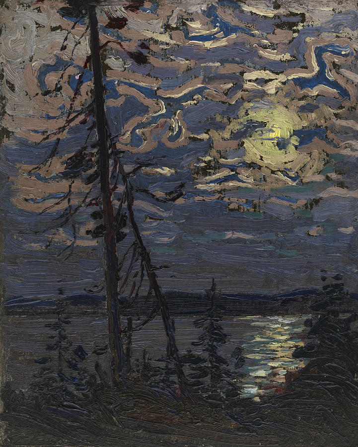 Canadian Painters Painting - Moonlight by Tom Thomson