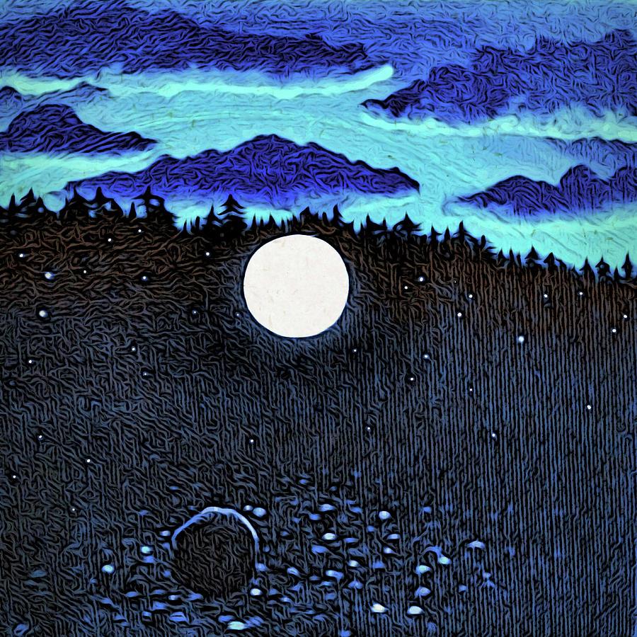 Moonlit Beach by Paisley O'Farrell