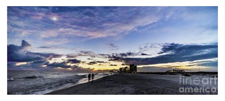 Al Photograph - Moonlit Beach Sunset Seascape 0272b1 by Ricardos Creations
