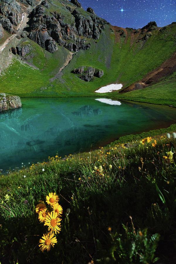 Moonlit Colorado Dreamscape Photograph