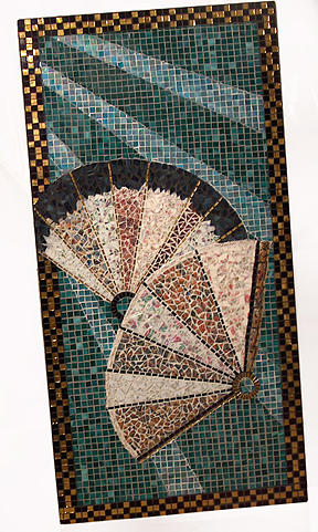 Mosaic Wall Hanging Mixed Media - Moonlit Dance by Wendy Nelson