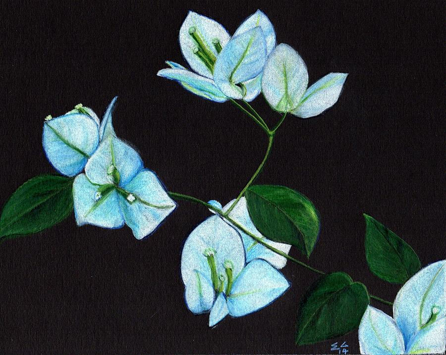 Bougainvillea Painting - Moonlit by Ekta Gupta