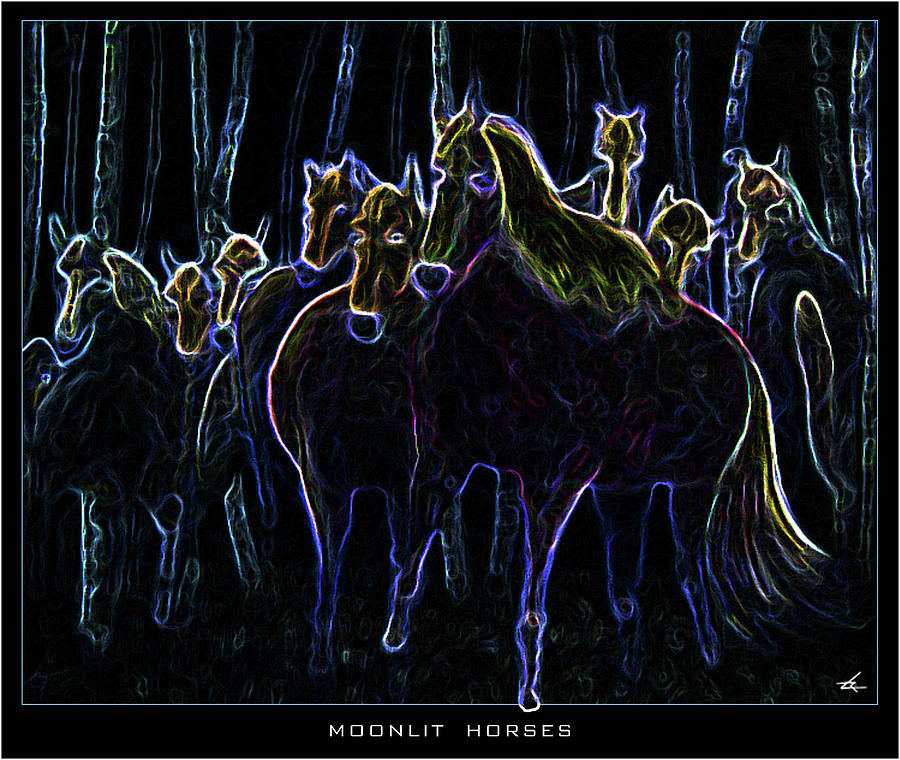 Moonlit Horses by Larry Rice
