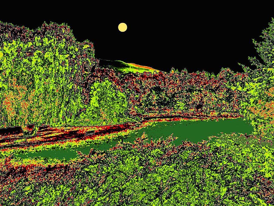 Abstract Digital Art - Moonlit Kaloya Park by Will Borden