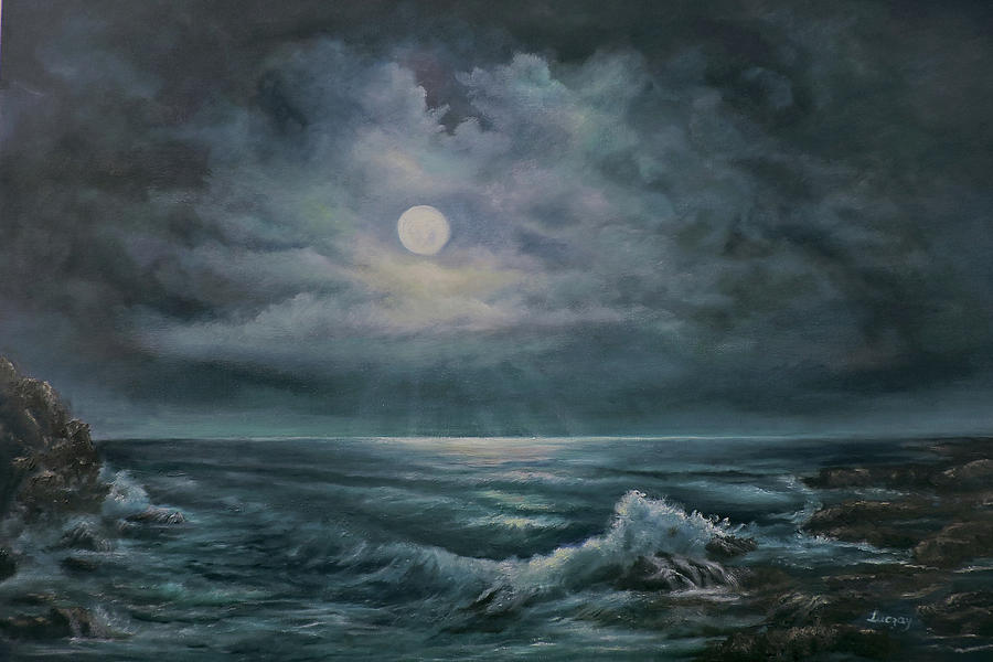 moonlit seascape by Katalin Luczay