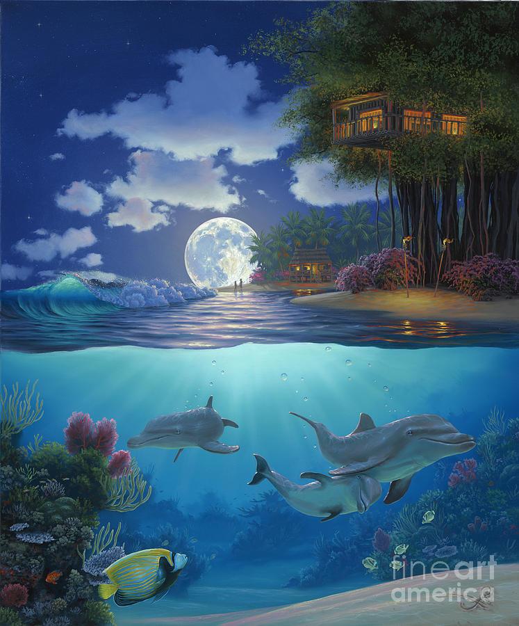 Moonlit Sanctuary Painting By Al Hogue