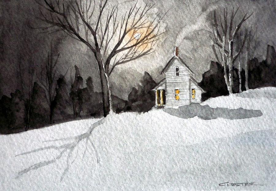 Moonlit Snow by Francis Chester