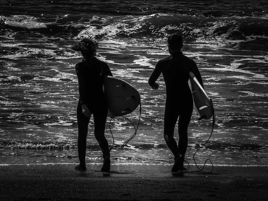 Moonlit Photograph - Moonlit Stroll by Heather Joyce Morrill