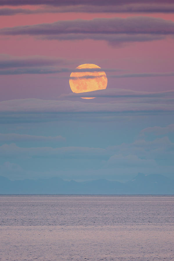 Moon Photograph - Moonrise by Alex Conu