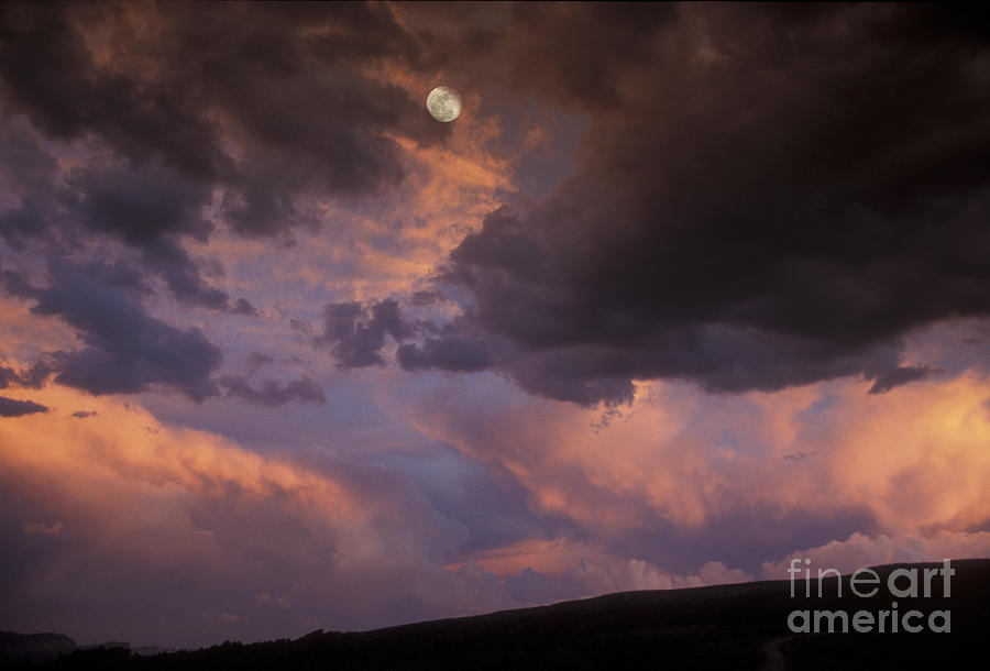 Capitol Reef National Park Photograph - Moonrise And Sunset by Sandra Bronstein