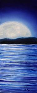 Moonrise Painting - Moonrise by Gloria Apfel