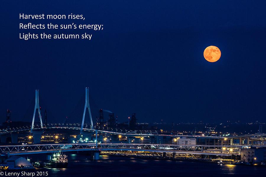 Moon Photograph - Moonrise - Haiku by Leonard Sharp