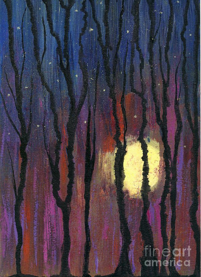 Mixed Media Mixed Media - Moonrise In December by Cyndi Lavin