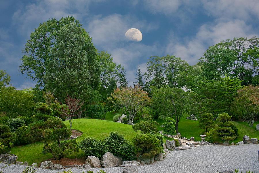 Moon Photograph - Moonrise Meditation by Charles Warren