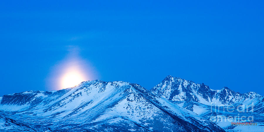 Moonrise Over Anchorage by Don Edward Jones