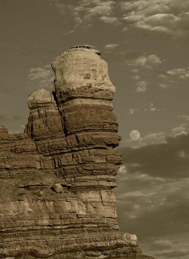 Nature Photograph - Moonscape by Debbie Mount