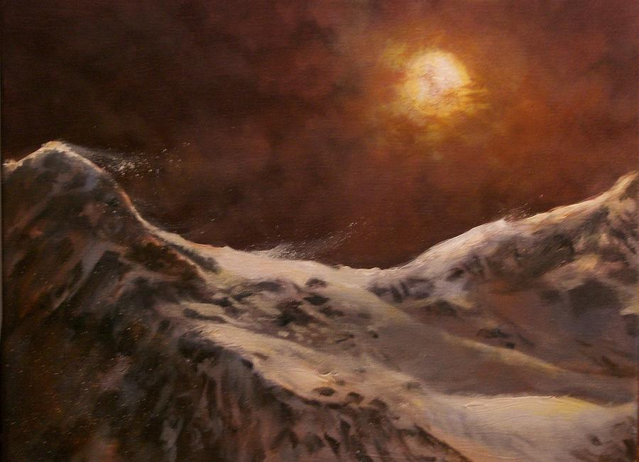 Moon Painting - Moonscape by Tom Shropshire