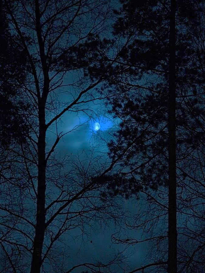 Nokia Photograph - Moonshine 10 Blue Sky by Jouko Lehto
