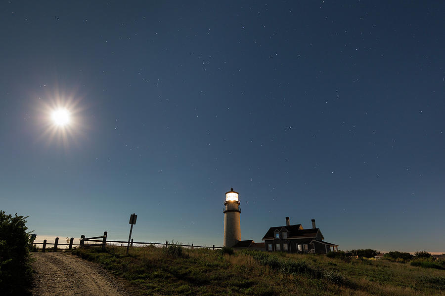 Highland Light Photograph - Moonshine by Bill Wakeley