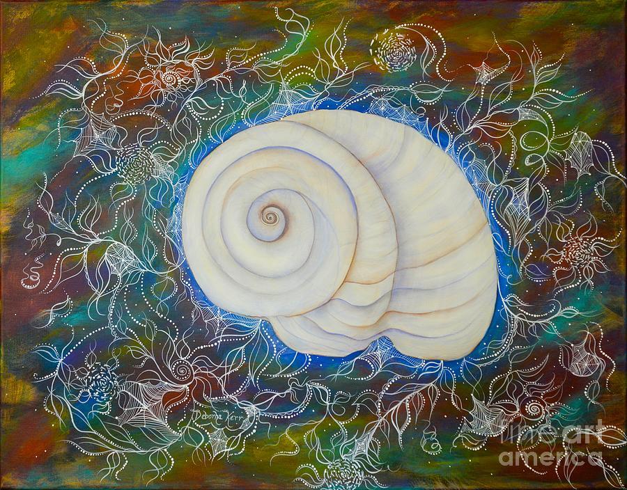 Moonsnail Painting - Moonsnail Lace by Deborha Kerr