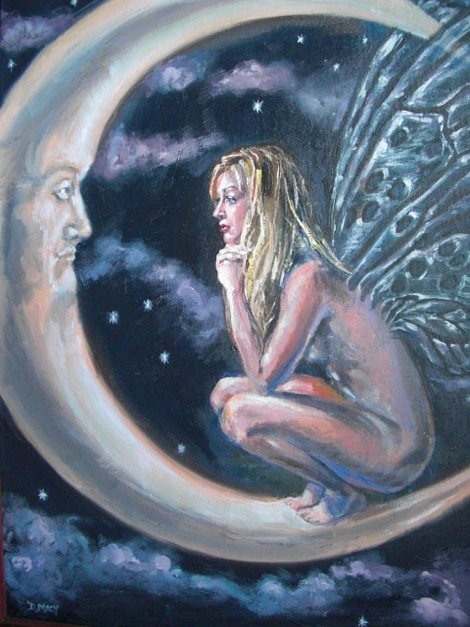 Fairy Painting - Moonstruck by Deborah  Macy
