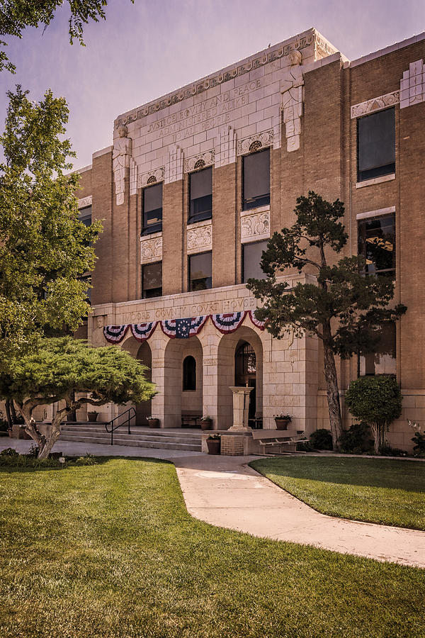 Joan Carroll Photograph - Moore County Courthouse by Joan Carroll