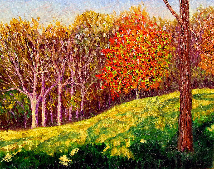 Autumn Painting - Mooresville October by Stan Hamilton
