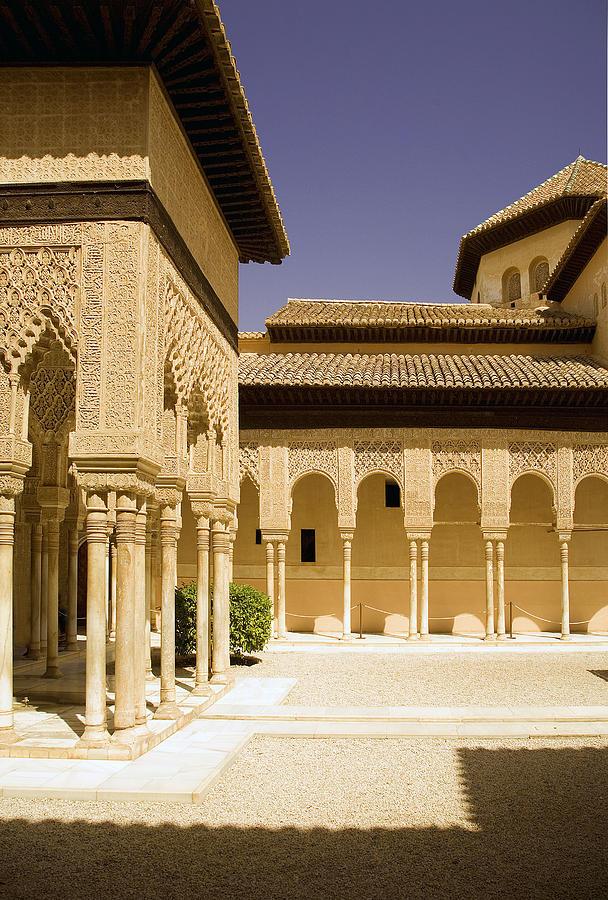 Moorish Photograph - Moorish Architecture In The Nasrid Palaces At The Alhambra Granada by Mal Bray