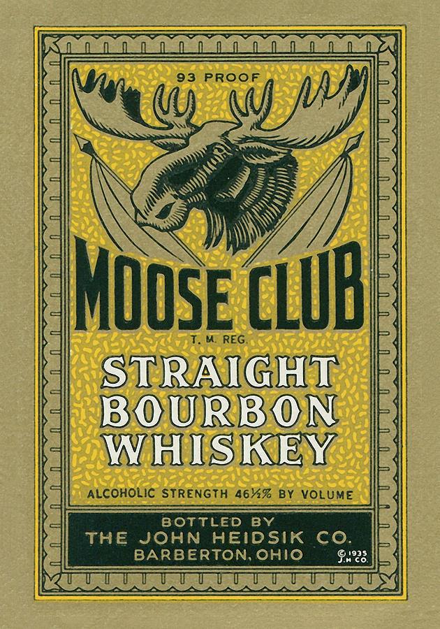 1935 Photograph - Moose Club Bourbon Label by Tom Mc Nemar