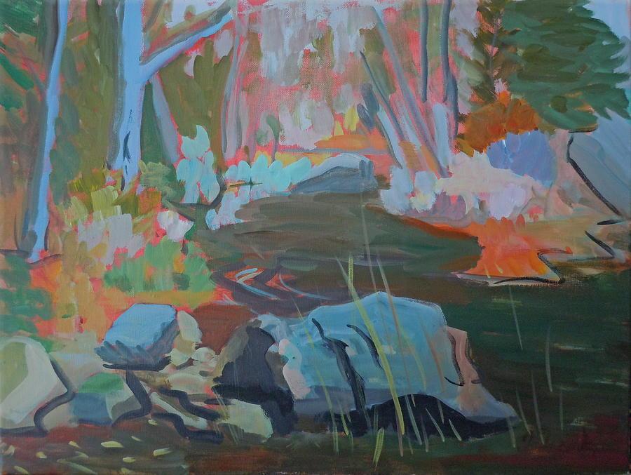 Landscape Painting - Moose Lips Brook by Francine Frank
