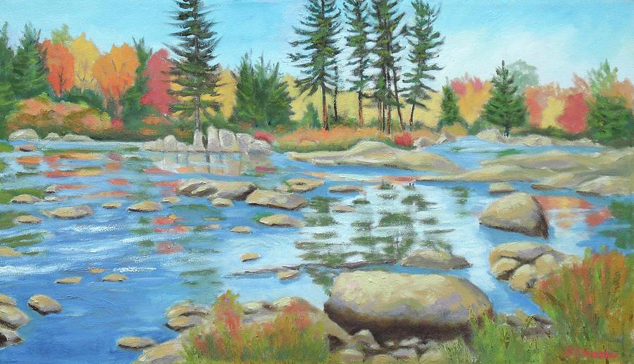Adirondacks Painting - Moose River Low Water 2 by Robert P Hedden