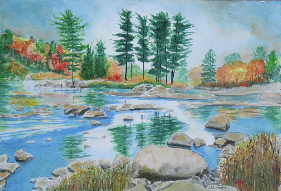 Adirondacks Painting - Moose River Low Water by Robert P Hedden