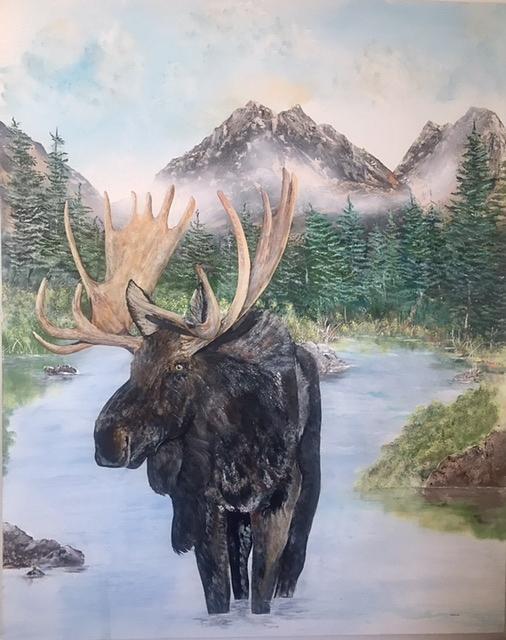 Moose Painting by Wm Garcia