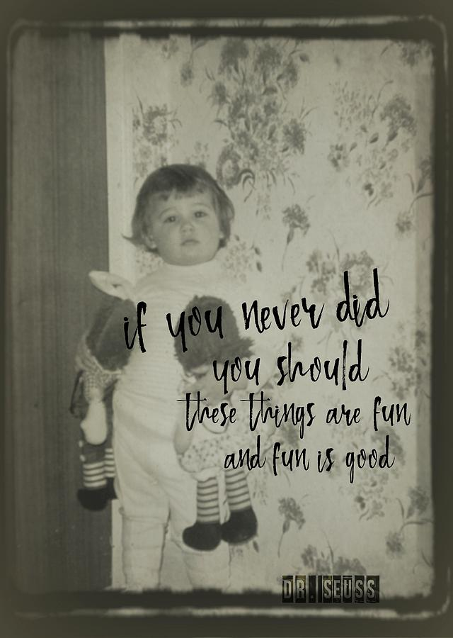 Vintage Photograph - Moppets Quote by JAMART Photography