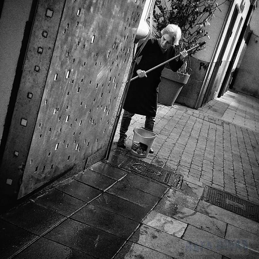 Lady Photograph - Mopping Widow  #lady #woman #widow by Rafa Rivas