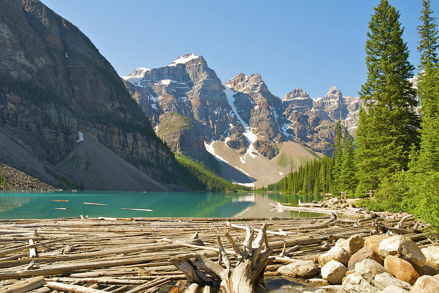 Moraine Lake Photograph - Moraine Lake - Canadian Rockies by Andre Distel