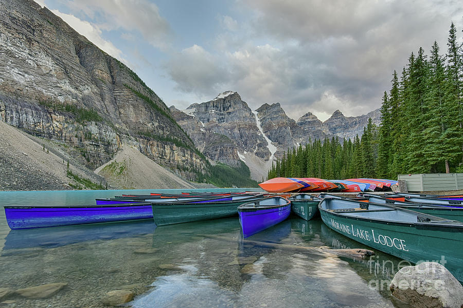 Moraine Lake Canoe Water Line View