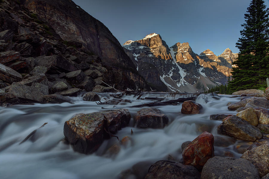 Moraine Lake Runoff by Ward Cameron