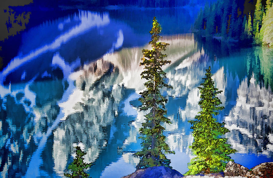 Canada Photograph - Moraine Reflections by Dennis Cox WorldViews