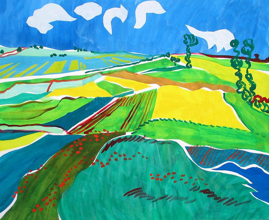 Landscape Painting - Moravian Landscape by Vitali Komarov