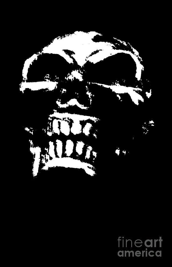 Skull Digital Art - Morbid Skull by Roseanne Jones