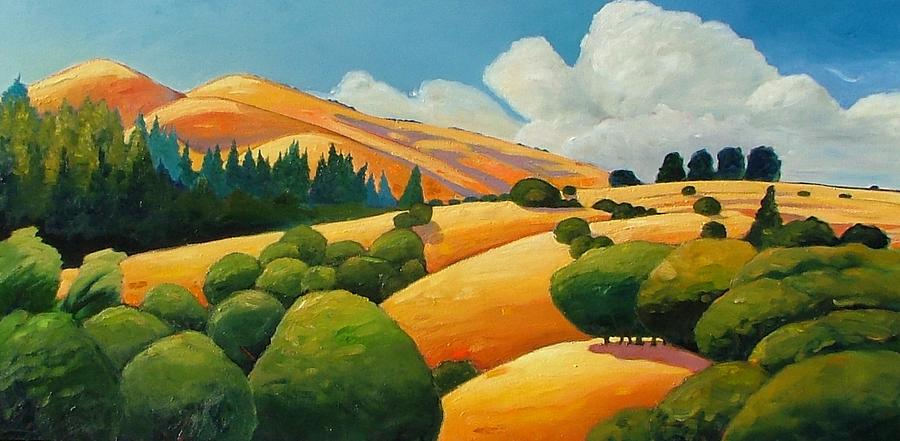 Clouds Painting - More Clouds Over Windy Hill by Gary Coleman