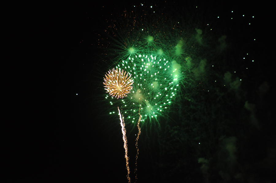 Green Photograph - More Fireworks  by Brynn Ditsche