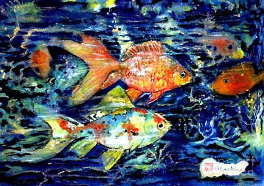 Fish Painting - More Gold Fish by Norma Boeckler