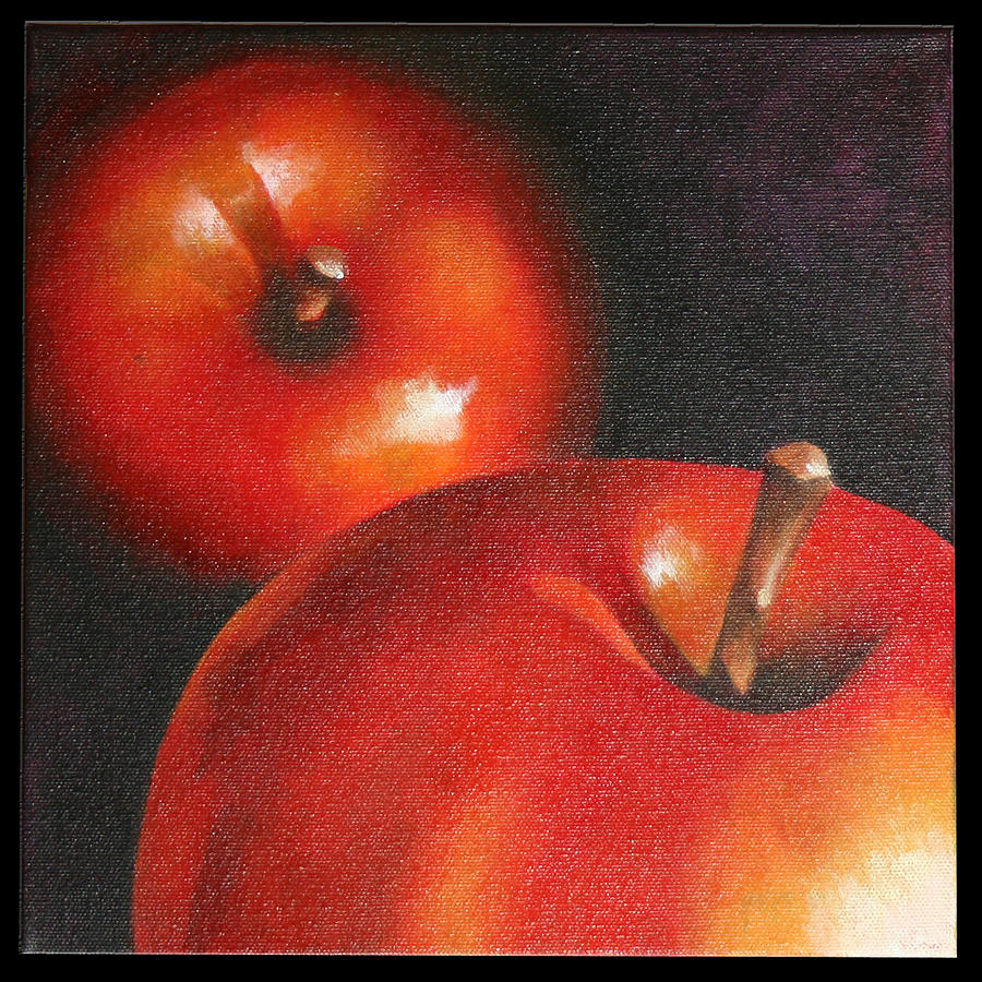 Still Life Painting - More Red Apples by Jose Romero