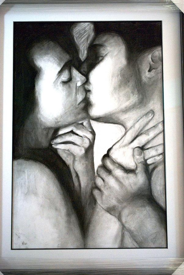 More Than A Kiss Drawing by Carter Neal