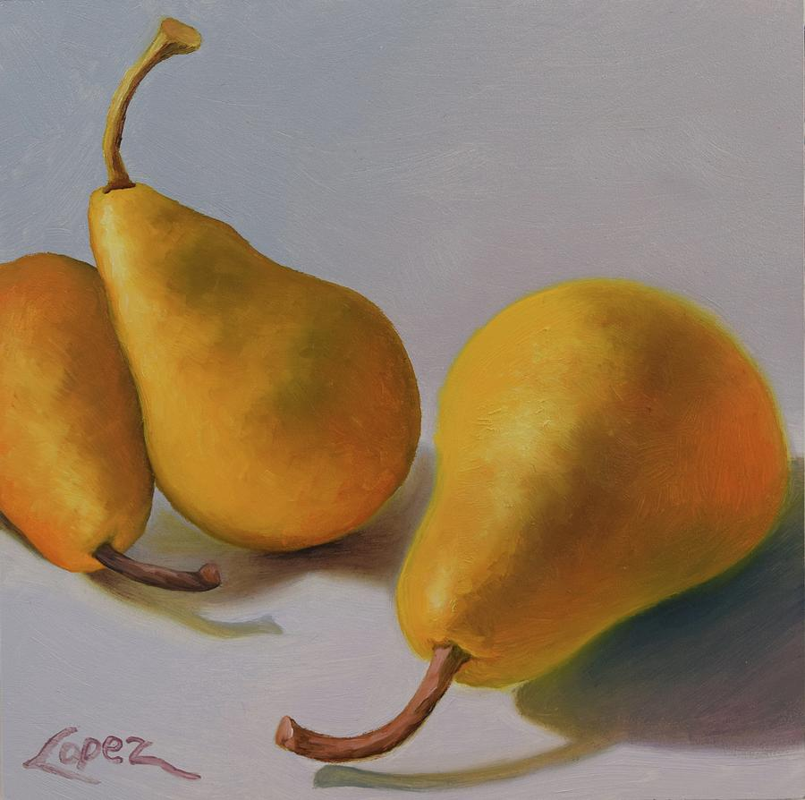 Pears Painting - More Than A Pair by Gema Lopez