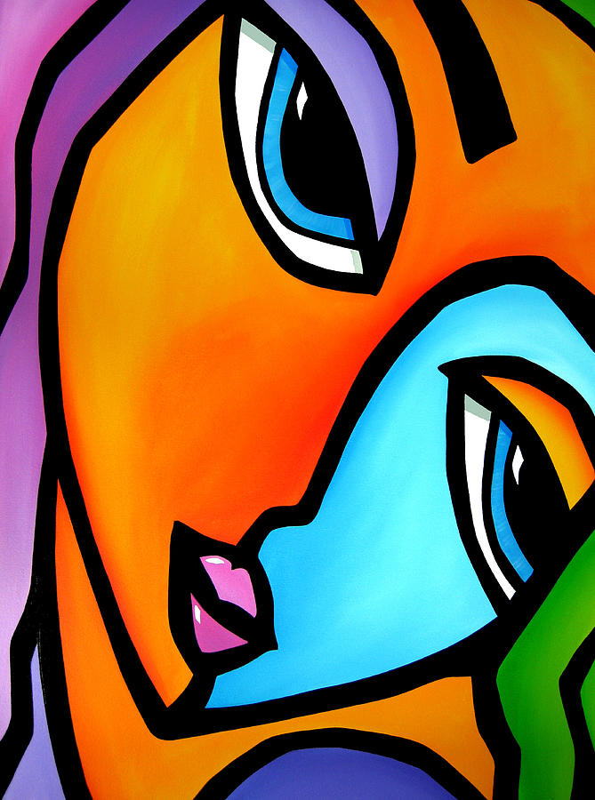 Abstract Art Paintings Painting - More Than Enough - Abstract Pop Art By Fidostudio by Tom Fedro - Fidostudio