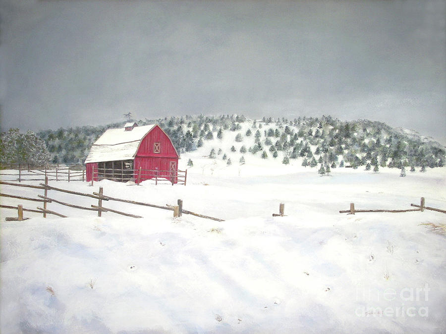 Barn Painting - More To Come by Jackie Hill